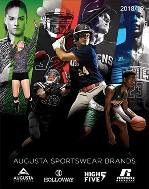 Cover of August Sportswear catalog for sports team uniforms