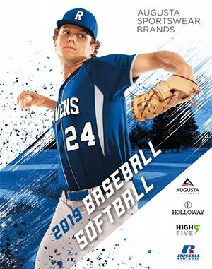 Cover of baseball and basketball uniforms catalog