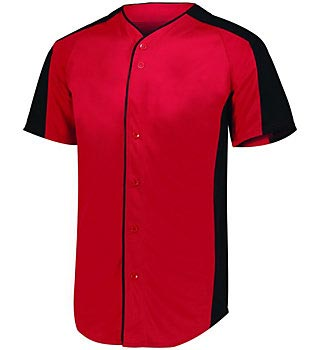 Men's red short sleeved shirt uniform