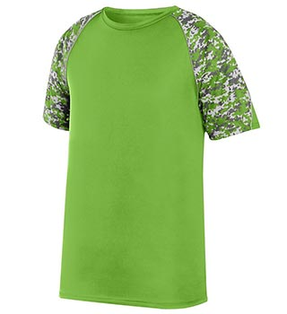 Men's green short sleeved team uniform