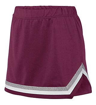 Women's team uniform skirt in burgundy