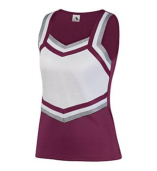 Women's sleeveless top team uniform in burgundy