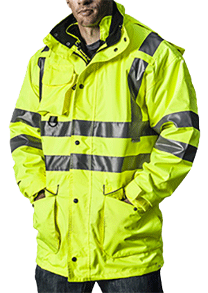 Fireman in high viz coat