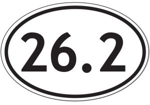 26.2 marathon custom bumper sticker