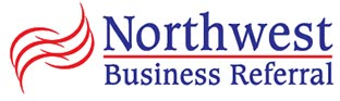 Northwest Business Referral logo in blue and red