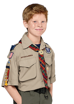 Boy scout in webelo uniform