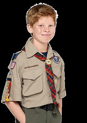 Boy scout in webelo uniform